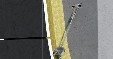 Mit dem Halfen Befestigungssystem FPA-SL30 können dünne Betonfassadenplatten sicher und exakt montiert werden. Foto: Halfen GmbH