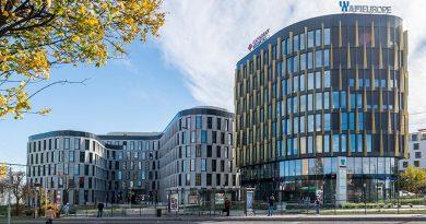 """Bei dem Bau des Gebäudekomplexes AFI Vokovice in Prag stand der Nachhaltigkeitsgedanke im Fokus. Daher hat das Objekt im Januar 2019 die höchste LEED-Zertifizierung """"LEED Platinum"""" erhalten. Foto: heroal"""