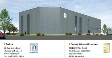 Neues Labor in Rosenheim zur Prüfung von Bauakustik und Fassaden. Quelle: ift Rosenheim