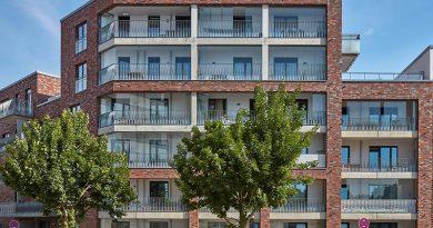 Im Hamburger Stadtteil Othmarschen wurde ein neues Wohnquartier mit vier Gebäuden geschaffen. Bild: Solarlux GmbH