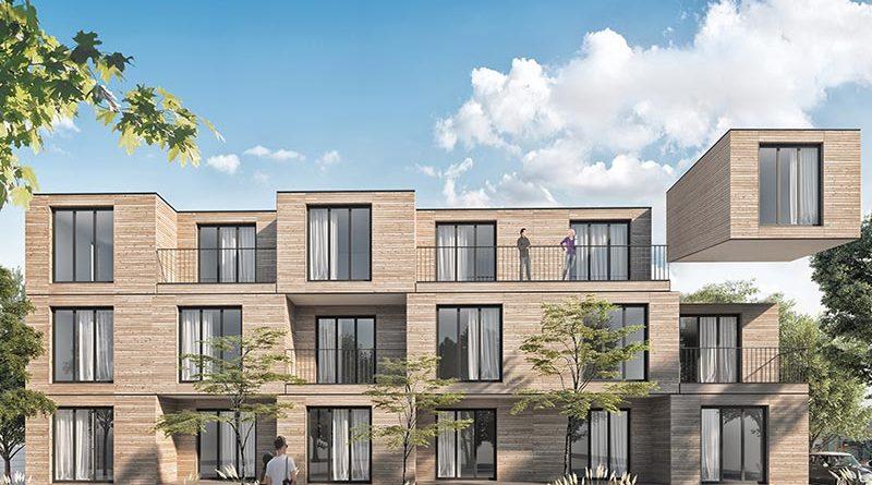 In Esslingen-Mettingen errichtet aktivhaus derzeit ein Wohnhaus für Pflegekräfte des Klinikums. Visualisierung: aktivhaus