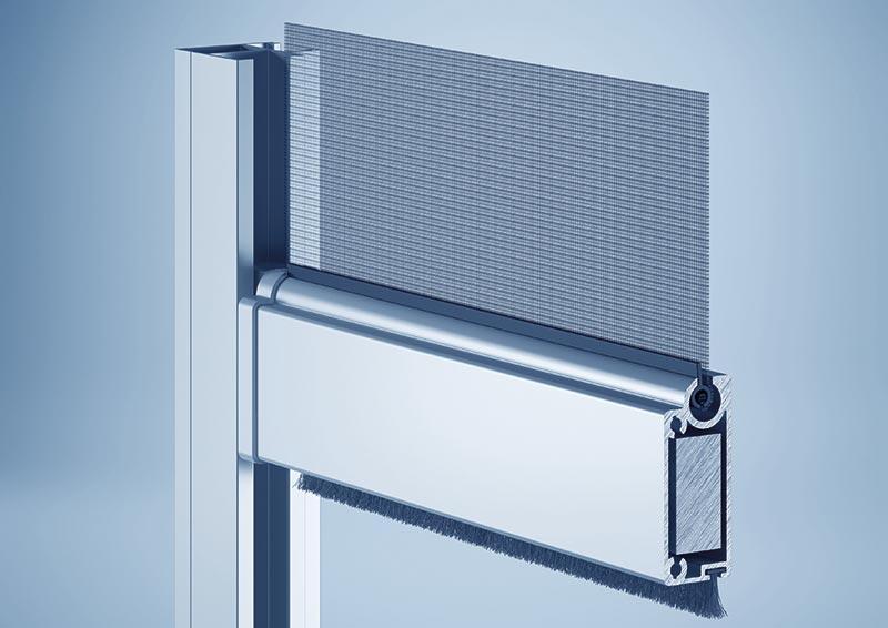 Bei dem Sonnenschutzsystem heroal VS erfolgt die Behangführung ausschließlich über die Endleiste. Foto: heroal