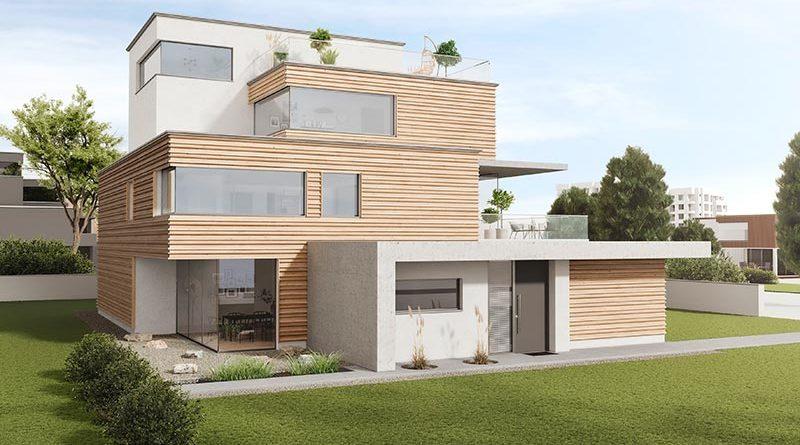 Holz in neuem Design: Dreidimensionale Holzfassaden für den Objektbau