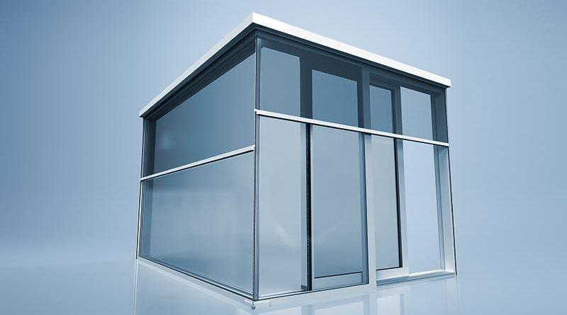 Die heroal VS Z Ecklösung sorgt für Zip-geführten Sonnenschutz an Ganzglasecken mit nur einer einzigen Seilführung. Bildquelle: heroal