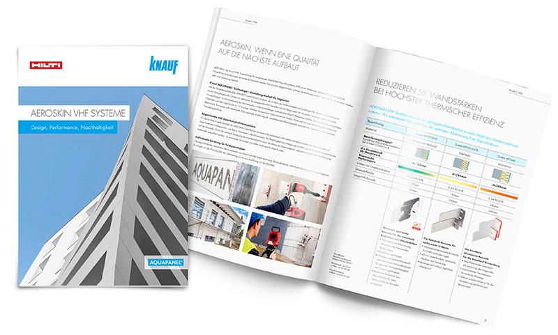 Die neue Broschüre liefert alle Details zur neuen vorgehängten hinterlüfteten Fassade Aeroskin. Foto: Knauf